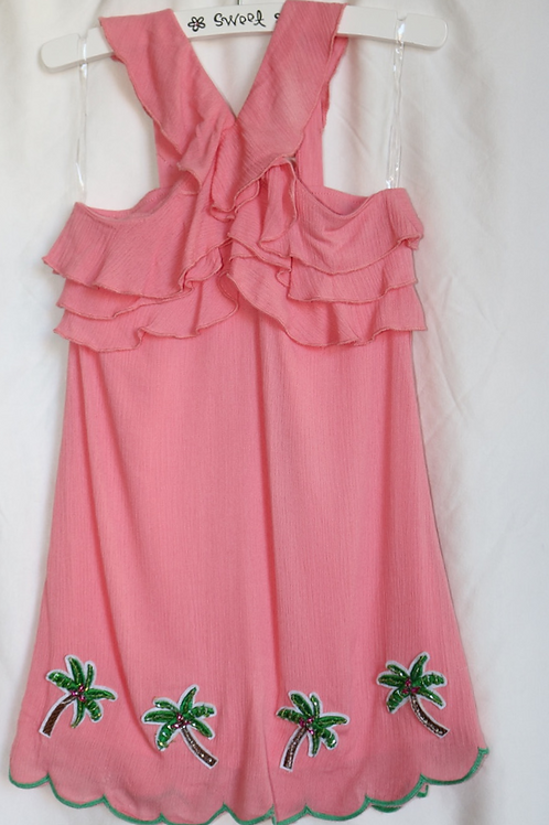 Pink Palm Tree Dress