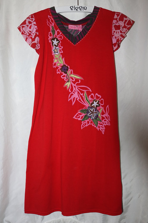 Red Dress With Flower