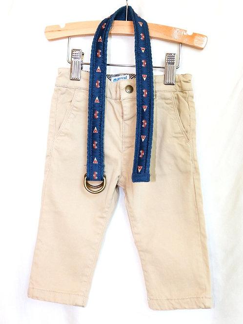 Khaki Pants and Belt 2pc