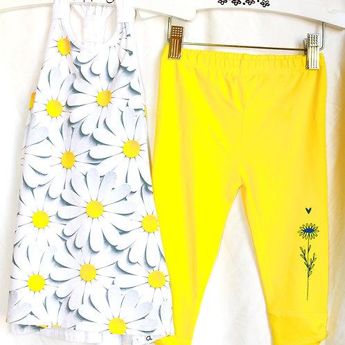 Daisy Tank and Yellow Leggings 2pc