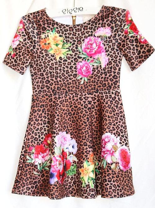 Cheetah Flower Dress