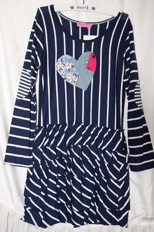 Striped Heart Dress