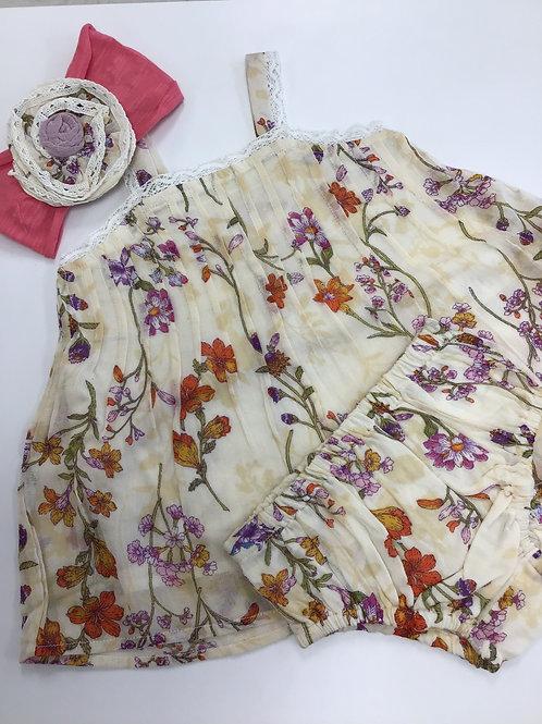 Garden Print Dress w/Panties