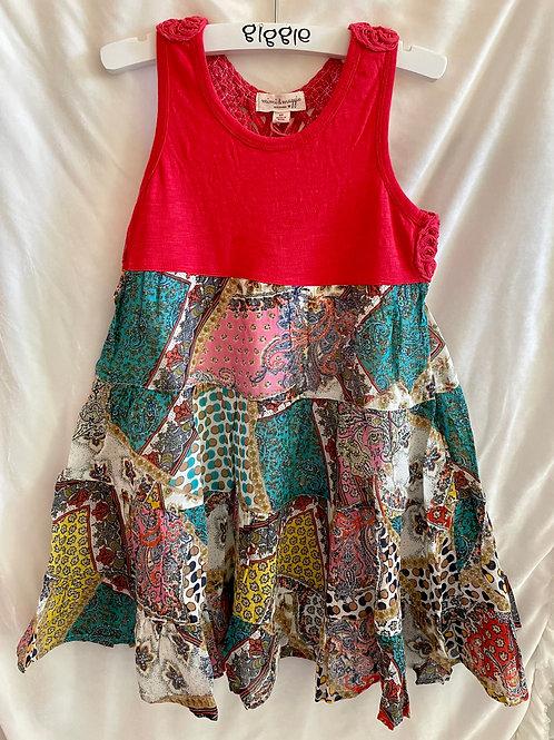 Red Crochet Back Festival Dress
