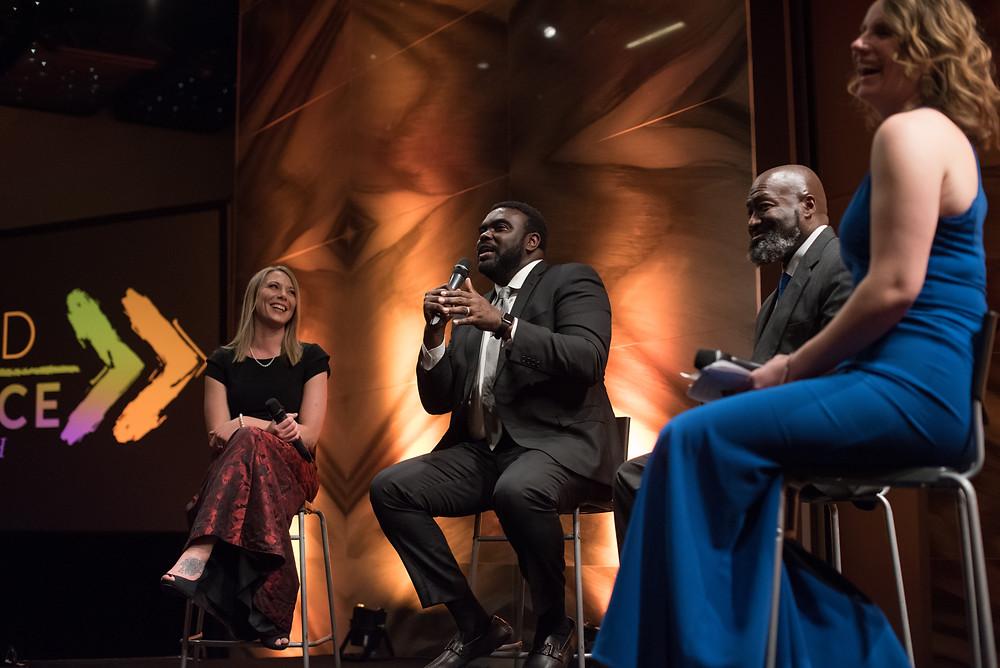 Lindsay Holloway, ED/Founder of This is Living Ministries; Marcus Bullock, CEO/Founder at Flikshop; Matthew Charles, Criminal Justice Reform Fellow at Families Against Mandatory Minimums (FAMM). Heather Rice-Minus, Director of Government Affairs for Prison Fellowship