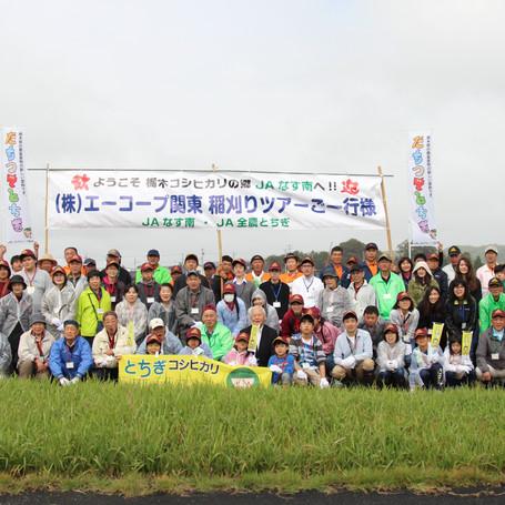エーコープ関東主催 稲刈り体験ツアー