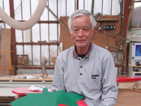 テーブル製造 モチーフは鹿沼市産農産物
