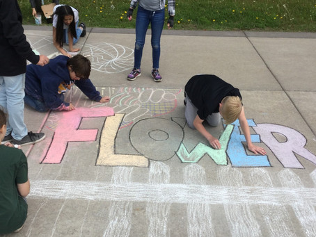 Chalk Murals at Lincoln Park Middle School