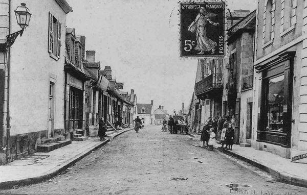 La rue du plan entre les deux guerres à Cosne d'Allier