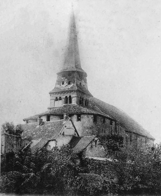 Ancienne église Saint Martin de Cosne d'Allier avant sa démolition