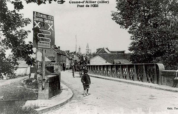L'ancien pont sur l'Oeil à Cosne d'Allier