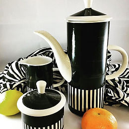 Monochrome vintage Coffee set. Now up on