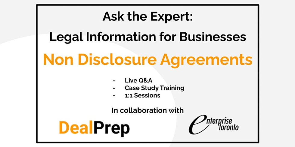 Ask the Expert: Legal Information for Businesses - NDAs