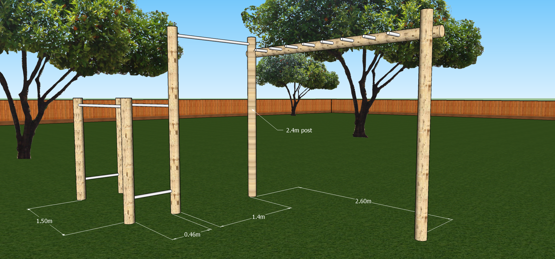 Pull Up Dip And Monkey Bars Diy Kit