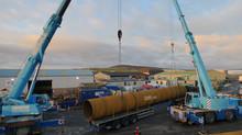 Leask Marine start the first tidal platform build in Orkney