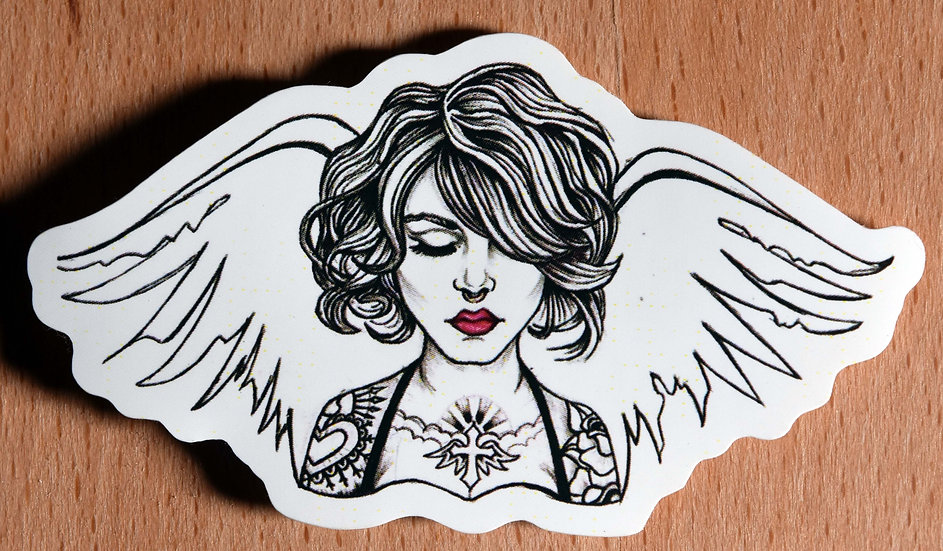 Angel with Red Lips