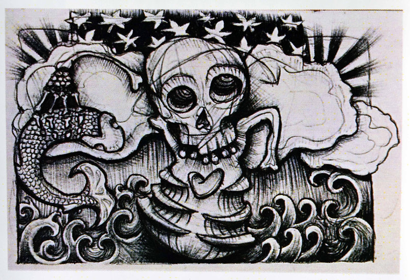 Skull and Fish