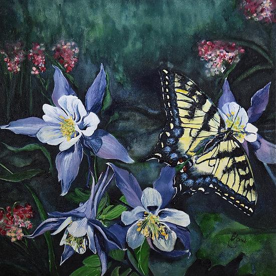 Swallowtail and Columbine