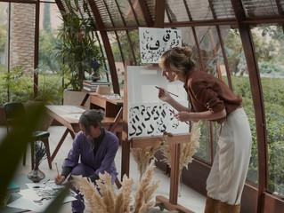 Живопись, каллиграфия и медитации: арт-терапия в оранжерее Atelier d'Artiste в отеле Royal Mansour