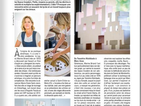 Mes Spaces Invaders dans La revue de la Céramique et du Verre