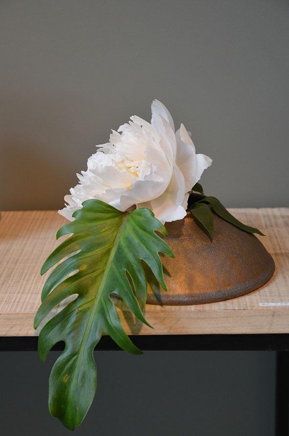 Vase plat Ikebana