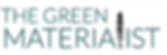 The Green Materialist Logo. Healthy home consulting ad eco-friendly materials