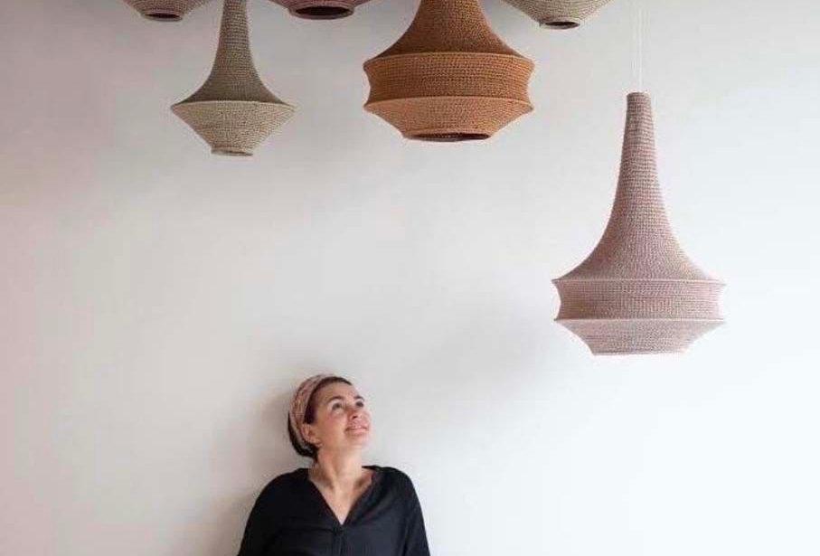 Joosh Crochet Hanging Lampshade Pendant