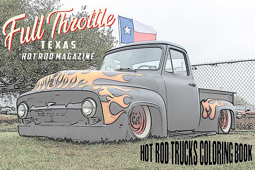 HOT ROD TRUCKS COLORING BOOK