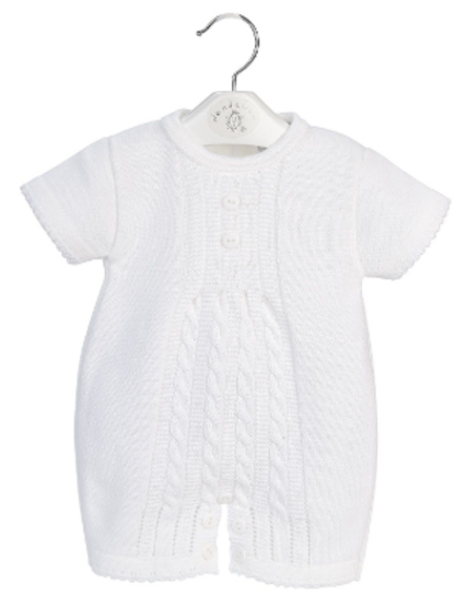 Baby Cable Knitted Romper