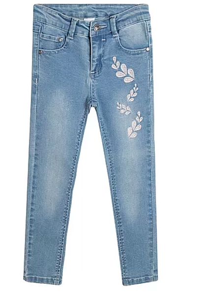 Girls Jeans With Diamante