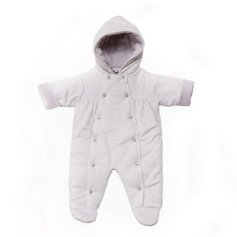Grey and White Checked Pram Suit