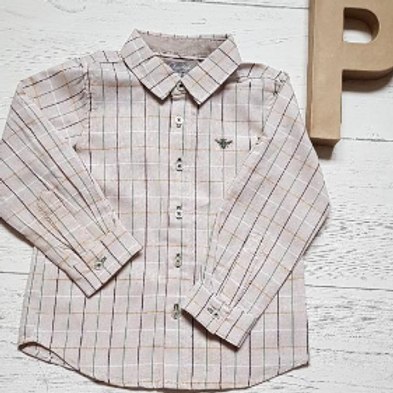 Beige Checked Shirt