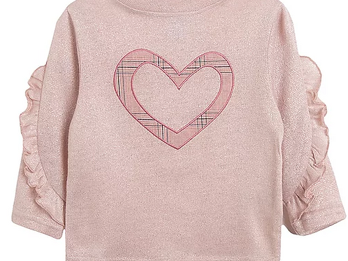 Pink Top With Appliqued Heart