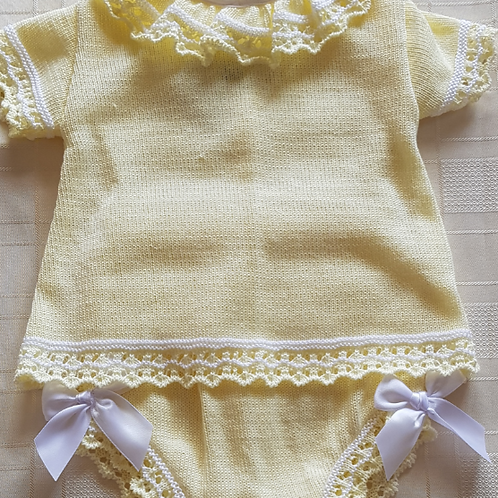 Little Nosh Knitted Top and Pants set