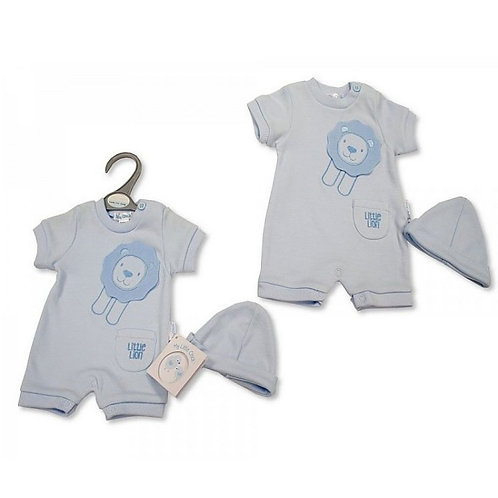 Premature Baby Boys Romper with Hat