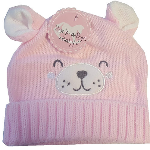 Pink Teddy Face hat