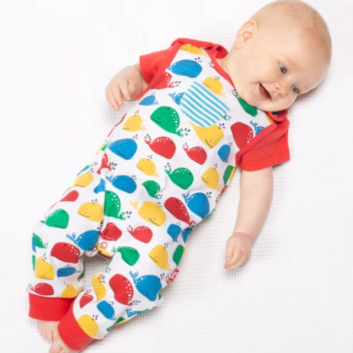 Rainbow Whale Dungarees