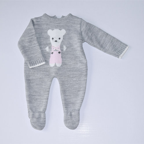 Baby Girl's Teddy Knitted All In One