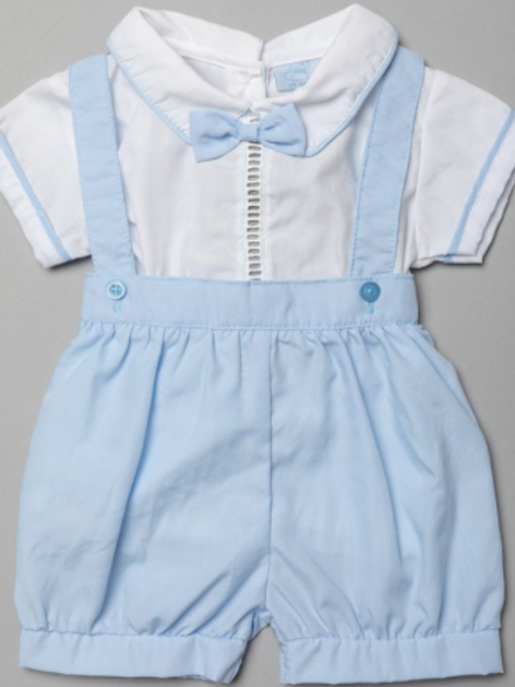 Baby Boys Two Piece Outfit With Dickey Bow