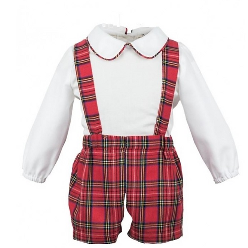 Tartan Shorts and Shirt Set (Romper sold separately)