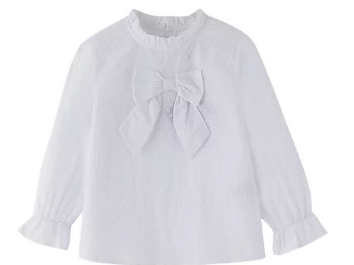White Blouse with Bow.