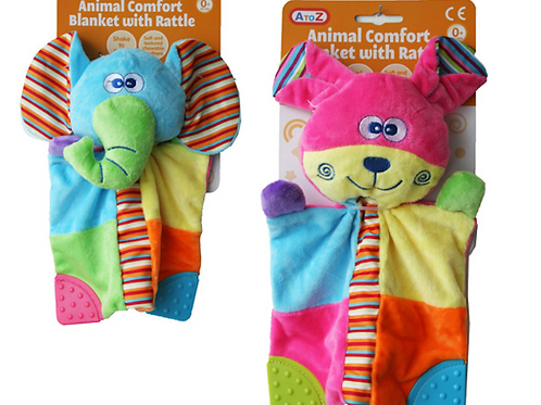 Comfort Blanket with rattle