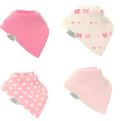 Hearts and Bows Bibs Set
