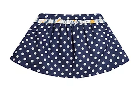 Navy Spotted Skirt