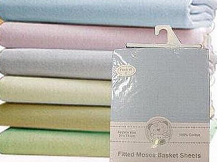 Fitted Moses Basket Sheets