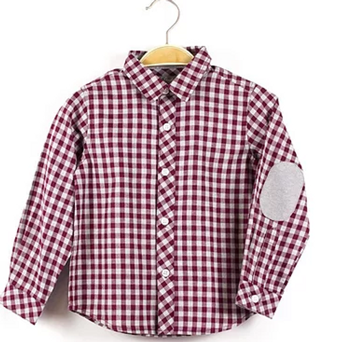 Claret and Grey Checked Shirt