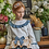 Thumbnail: Ivory Blouse with Blue Trim