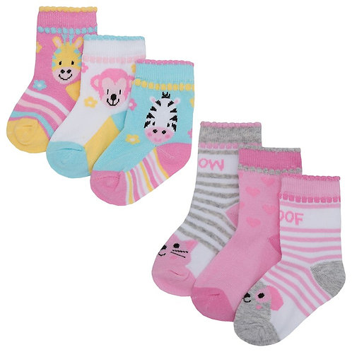 Triple Pack Animal Socks