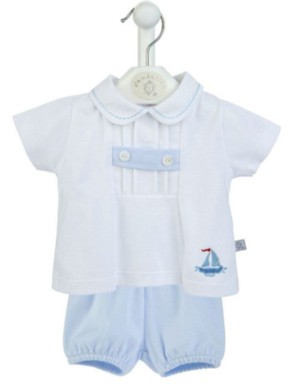 Little Boats Cotton Top and Shorts