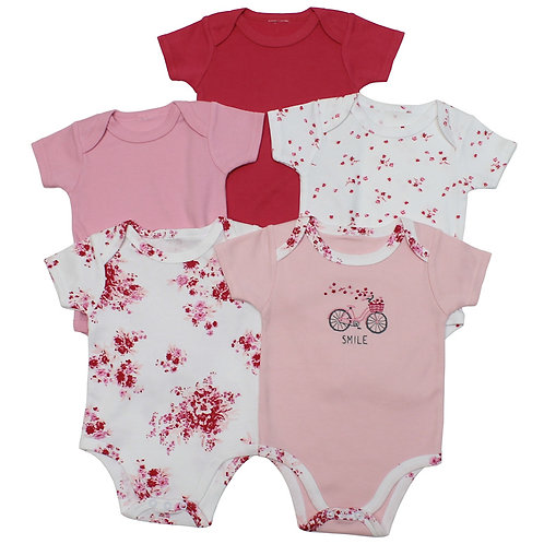 Flowers Five Pack Bodysuits